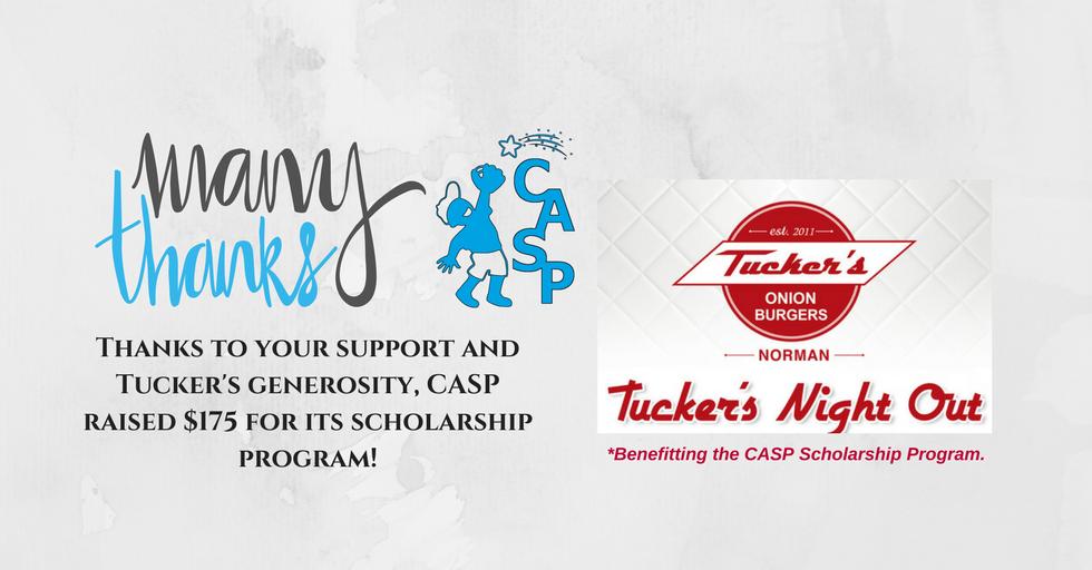 CASP Night - Tucker's Thanks